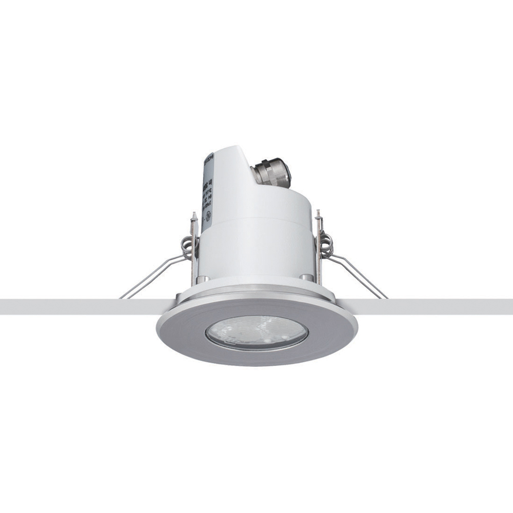 Micro stainless steel ring ceiling recessed 3 led 3000k platek micro stainless steel ring ceiling recessed 3 led 3000k aloadofball Images